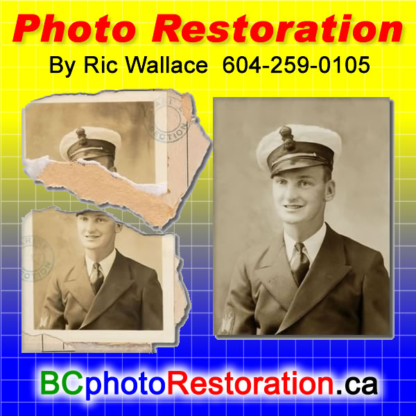 White Rock BC Photo Restoration  Ric Wallace can bring FADED or partially lost PHOTOS back to LIFE